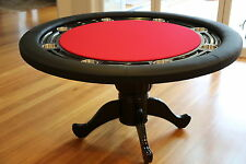 """The Moneymaker 55"""" Professional Poker Table 8 Seater Red Suited Speed Cloth"""