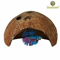 SunGrow Betta cave: Natural habitat made from coconut shells: Hideout for Betta
