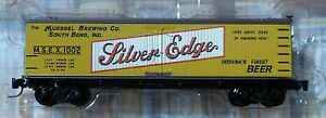 Micro-Trains Line Z #51800240 Muessel Brewing Co. 40' Wood Reefer Car Rd #1002