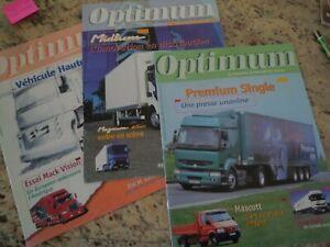 OPTIMUM le magazine Renault Trucks des acteurs du transport trois numéros: 6-7-8