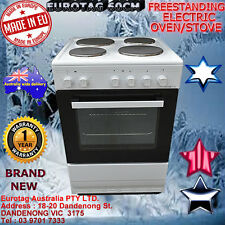 Eurotag 60cm Freestanding Electric Oven Solid Cooktop STOVE RRP$799. Made in EU
