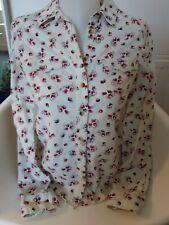 Indigo Ladies blouse size 8. Fine cord. Pretty design