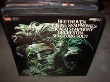 SOLTI / BEETHOVEN nine symphonies ( classical ) 9lp box uk  ffrr