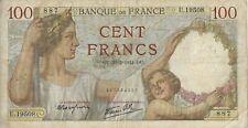 Billet - 100 Francs SULLY - 20/02/1941 - série U.19508 - N° 887