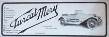 PUBLICITÉ DE PRESSE 1913 AUTOMOBILES TURCAT MERY