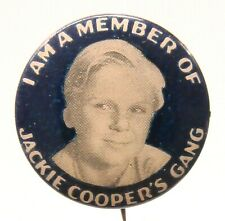circa 1933 JACKIE COOPER'S GANG MEMBER celluloid pinback button ^