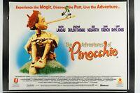 THE ADVENTURES OF PINOCCHIO 30x40 Quad Original RARE DS Rolled Movie Poster 1996