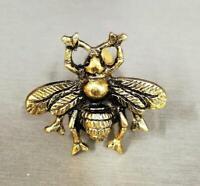 Antique Bronze Bee Cabinet Knob | Decorative Metal Cupboard Door Handle Pull