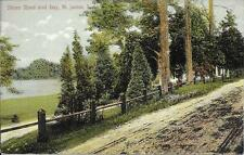 Shore Road and Bay St James L I NY nice postcard postally used in 1909