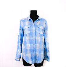 *W Hollister Womens Shirt Tailored Checks Blue M