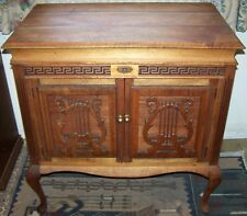 Ornate Antique Timber Gramophone Cabinet converted into a Cupboard