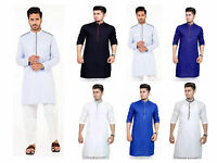 Men'S Kurta Pyjama Indian Pakistani Cotton Salwar Kameez Sherwani Large Size
