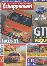 ECHAPPEMENT n°460 12/2005 Ford Focus ST, Alfa Brera, Opel Astra OPC, Honda Civic