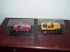 Speedy Power Diecast Red & White Shelby Cobra and 1996 Yellow Corvette
