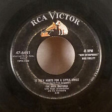 """The Ames Brothers It Only Hurts for a Little While / If You Wanna 7"""" 45 RCA VG"""