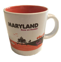 Dunkin Donuts Destination Maryland Runs on Dunkin Coffee Cup Mug 2012