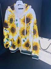 Dolce Gabbana Sunflower Track Jacket Hoodie RRP £685