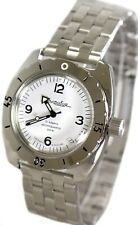 Vostok Amphibian 150349 / 2416 Classic Military Russian Diver Watch White 200m