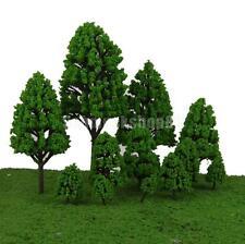 12pcs Landschaftsbau Pappeln Modell Baum Parklandschaft Hellgrün 2.5-16cm