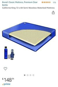 California King Waterbed Mattress and conditioner