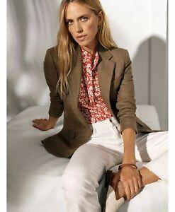 Ralph Lauren Womens Herringbone Tweed Blazer Jacket.SZ:4P
