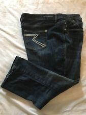 (*-*) ROCK & REPUBLIC * Womens KENDALL Capri Blue Jeans / Denim * Size 24W