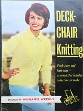 WOMAN'S WEEKLY KNITTING BOOKLET: DECK-CHAIR KNITTING, VINTAGE 1960s