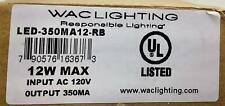 Wac Lighting Led 350ma12 Rb Led Driver 350ma Output12 W Max Class 2 Output