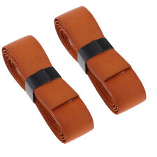 2Pcs Leather Replacement Grip Cover Tape for Tennis/Badminton/Squash Racket