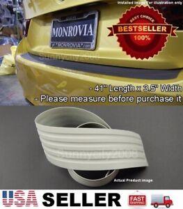 """41"""" x 3.5"""" Gray Rear Bumper Rubber Guard Cover Sill Plate Protector For Dodge"""