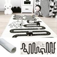 Skandinavischer Teppich Straße Spielteppich Baby Matte Kinderteppich für Spaß
