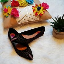 Rampage  Women Aztec Embroidered Flats Size 8.5 Brand New