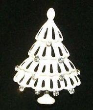 Brooch : Austrian Crystal Quality Usa Christmas Tree T