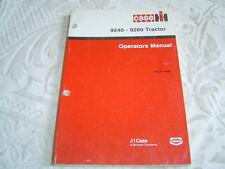 Caseih Case Ih International 9240-9260 tractor operator's manual
