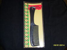 Gold Crest - NATURAL STYLER - Black hard Comb - NEW in PACK Vintage - like Goody
