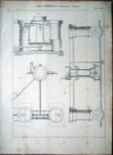 1888 stampa incisione-COMPRESSORE A TROMBA-ARIA COMPRESSA-Tav.81
