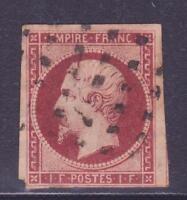 "FRANCE N°18 ""1F NAPOLEON III"",OBLITERE, VALEUR: 3250€"