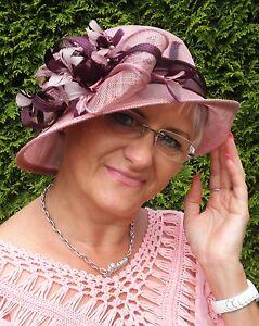 festlicher Damen Hut Glockenhut Farbauswahl Anlasshüte Ascot Stroh Hochzeit