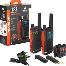 2 x Motorola TALKABOUT T82 Walkie Talkie PMR 446 Radios Twin Pack, Rechargeable