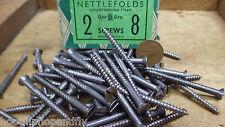 50 x nettlefolds 5.1cm x 8 a testa svasata in acciaio VITI VITI LEGNO N.