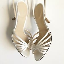 J.Crew Satin Strappy Sandals Bridal Party Size 8 Heels Made In Italy Women's
