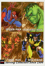 1998 Marvel Creators Trading Cards Marvel Gold Subset Full Set (4)-Rare