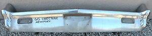 X CHRYSLER NEWPORT NEW YORKER NEW TRIPLE PLATED CHROME FRONT BUMPER 1965 65 OEM