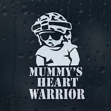 Mummy's Heart Warrior Baby On Board Car Decal Vinyl Sticker For Window Bumper
