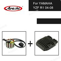 Voltage Regulator + Stator Coil Fit Yamaha YZF R1 1000 2004 2005 2006 2007 2008