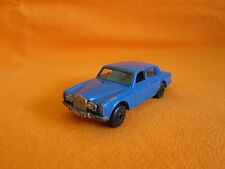 Vintage old car Bulgaria Matchbox Series 24 Rolls Royce silver shadow Blue .