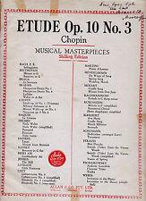 ETUDE OP. 10 No. 3 Chopin / Sheet Music