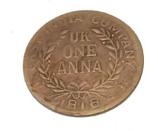 COIN 1818 EAST INDIA COMPANY, UK ONE ANNA RAM DARBAR ANTIQUE OLD COIN