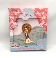 """Disney Loungefly 3"""" Mulan Fan Spinner Limited Edition LE 500 Pin With Box"""