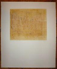 Benanteur Abdallah Gravure signée art abstrait peinture algérienne moderne